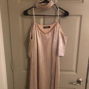 Do+Be - gold cold shoulder with matching choker